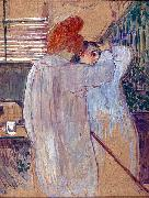 Two Women in Nightgowns Henri de toulouse-lautrec